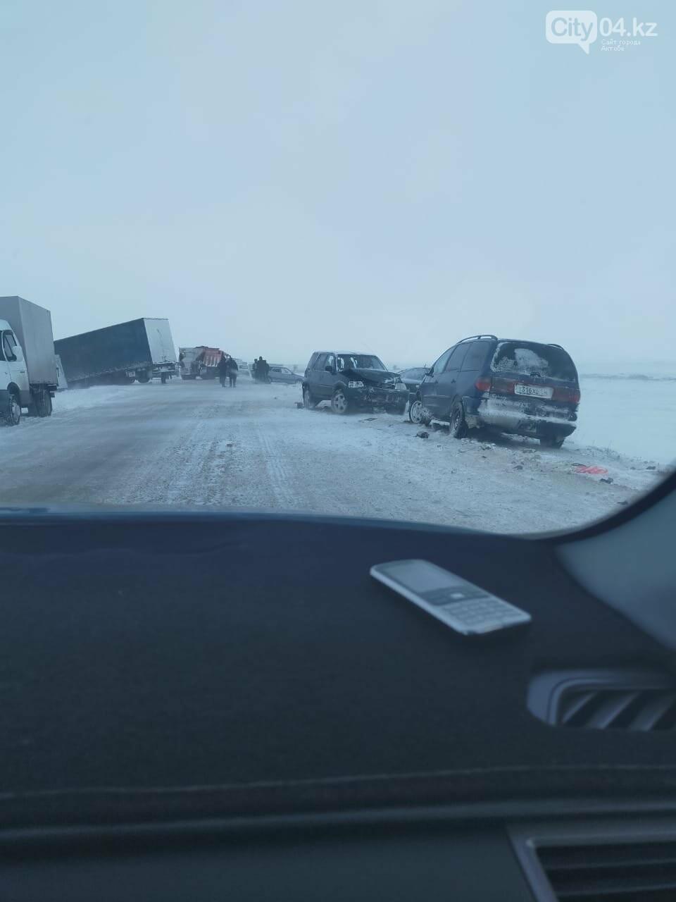 """11 машин попали в аварию на трассе """"Самара-Шымкент"""", фото-1"""