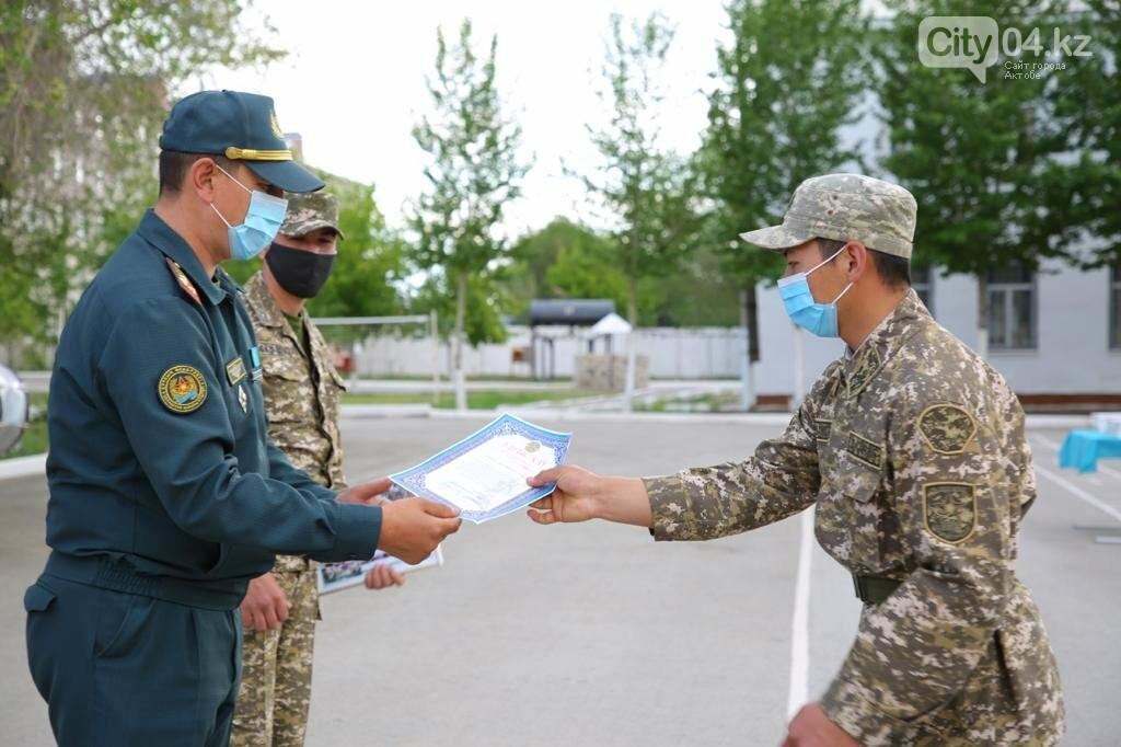Военнослужащие срочной службы Актюбинского гарнизона уволены в запас, фото-1